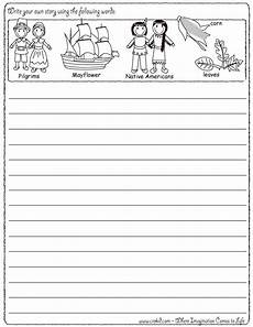 writing stories worksheets for 3rd grade 22271 write your own story thanksgiving theme pilgrims turkey mayflower americans