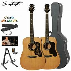 beginner acoustic guitars best new size beginner spruce starter acoustic guitar beginners package kit ebay