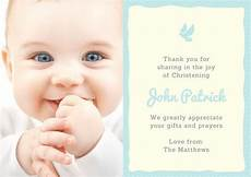 thank you card template for baptism customize 50 christening thank you card templates