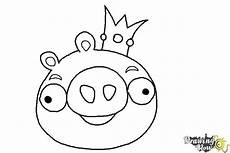 coloring pages 17621 how to draw angry birds pig king pig drawingnow