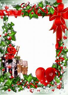 christmas transparent png borders and frames photo frame with chagne christmas