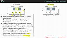 working of npn and pnp transistor youtube
