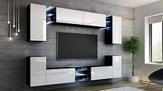 Wohnwand Modern Design - kaufexpert wohnwand splash wei 223 hochglanz schwarz