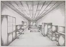 Fluchtpunkt Zeichnen Zimmer - perspective