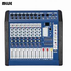 console dj pc 9 channel karaoke dj mixer sound musical 700w powered