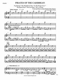 pirates of the caribbean piano four hands