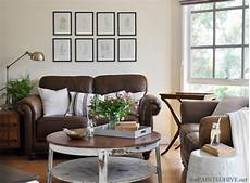 Home Decor Ideas With Brown Couches by Decorating With A Brown Sofa