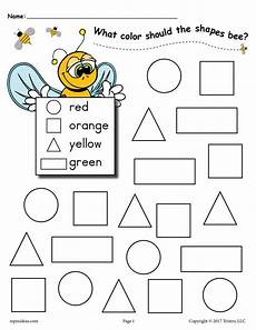 color by number shapes worksheets 16248 6 bee themed shapes coloring pages supplyme
