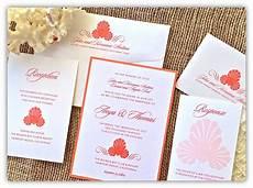 Wedding Invitations Coral Color