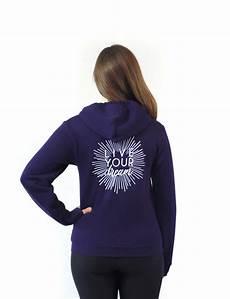 quot live your quot zip up sweatshirt
