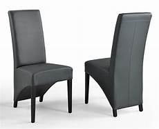 Chaise Toronto Gris Pieds Noirs