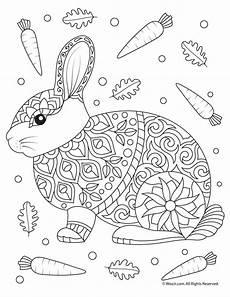 rabbit coloring page woo jr activities