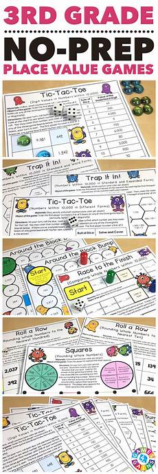 3rd grade place value games for comparing and rounding numbers 3 nbt 1 place value games