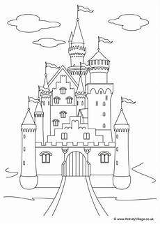 fairytale themed coloring pages 14942 fairytale castle colouring page