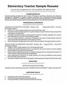 elementary teacher resume sle writing tips resume companion