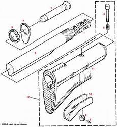 Colt 174 Ar 15 Sliding Buttstock Assembly Explosionszeichnung