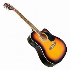 New Pyle Pgakt40sb 41 Acoustic Electric Guitar Package W