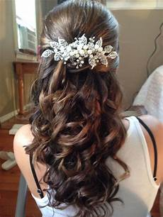 Flower Hair Style Wedding Brunet