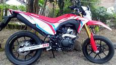 Modifikasi Motor Crf 150 by Modifikasi Motor Honda Crf 150 Supermoto Kumpulan Gambar