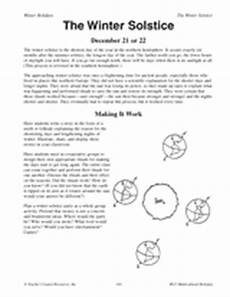 winter solstice reading worksheets 20081 winter solstice activities multicultural holidays printable 3rd 5th grade teachervision