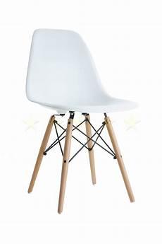Charles Eames Style Dsw Eiffel Stuhl Plastik Weiss The