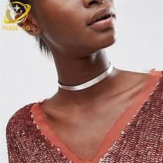 bijoux ras de cou femme pu leather choker necklace jewelry fashion jewelry