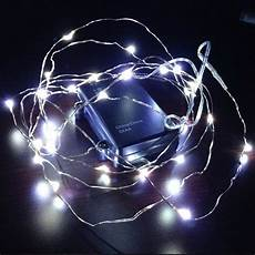 10ft led wire string lights white battery