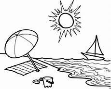 Malvorlagen Meer Und Strand Urlaub Kostenlose Malvorlage Sommer Sommertag Am Strand Zum Ausmalen