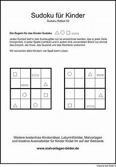 Kinder Malvorlagen Sudoku Gratis Kindersudoku Zum Ausdrucken