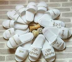 personalised wedding bridesmaid bridal party slippers hens bachelorette spa slippers