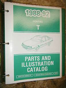 auto repair manual free download 1988 pontiac lemans electronic valve timing 1988 92 pontiac lemans factory parts and illustration catalog manual book ebay