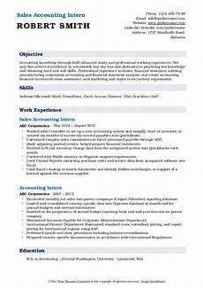 accounting intern resume sles qwikresume