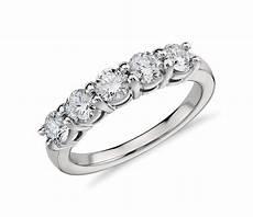 eternal five stone diamond ring in platinum 1 ct tw blue nile