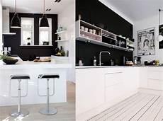 cuisine noir et blanc 20 inspirations pour une cuisine en noir et blanc joli place