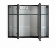 Spiegelschrank 80 Cm - bad spiegelschrank 3 t 252 rig mit led aufbauleuchte 80