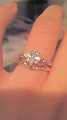 show me your cluster ring with wedding band weddingbee snowflake engagement ring expensive