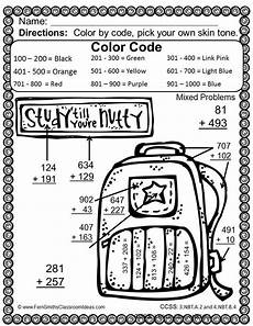 free 4th grade color by number worksheets 16315 3rd grade go math 1 7 use place value to add multi digit numbers color by number go math