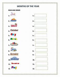 worksheets months 18961 months of the year interactive worksheet
