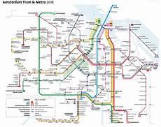 file metro tram network of amsterdam in 2018 png