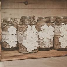 10 lace and burlap wedding centerpieces