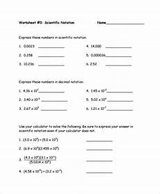 sle scientific notation worksheet 9 free documents download in word pdf