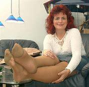 Womens sexy nylon feet
