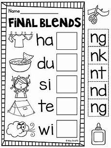 ending blends worksheets and activities the end cut and paste and consonant blends