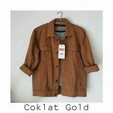jacket jaket coklat jaket warna denim jacket oversize jaket shopee
