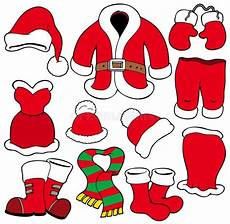 various santa claus clothes stock vector illustration of