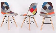 2 chaises scandinaves patchwork groupon