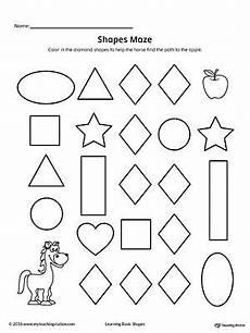 shape maze worksheet 1194 shape maze printable worksheet printable worksheets maze and worksheets