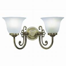 woodstock double wall light in brass with scavo glass shades switched d r woo0985