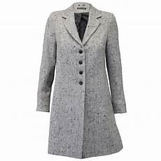 Coat Womens Jacket Wool Look Button