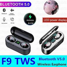 Bluetooth Earphone Wireless Earbuds Display 1200mah by F9 Wireless Earphone Bluetooth V5 0 F9 5 Tws Stereo